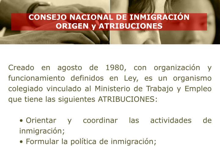 CONSEJO NACIONAL DE INMIGRACIÓN