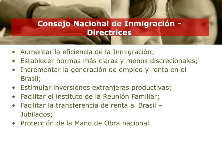 Consejo Nacional de Inmigración -