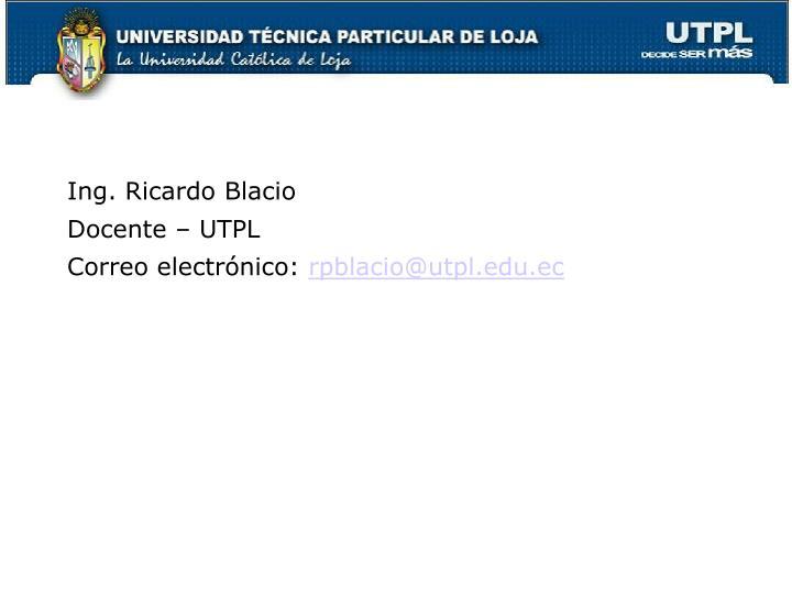 Ing. Ricardo