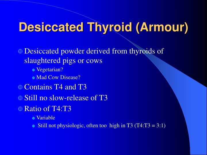 Desiccated Thyroid (Armour)