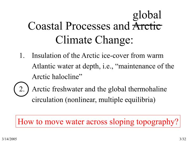 Coastal processes and arctic climate change1