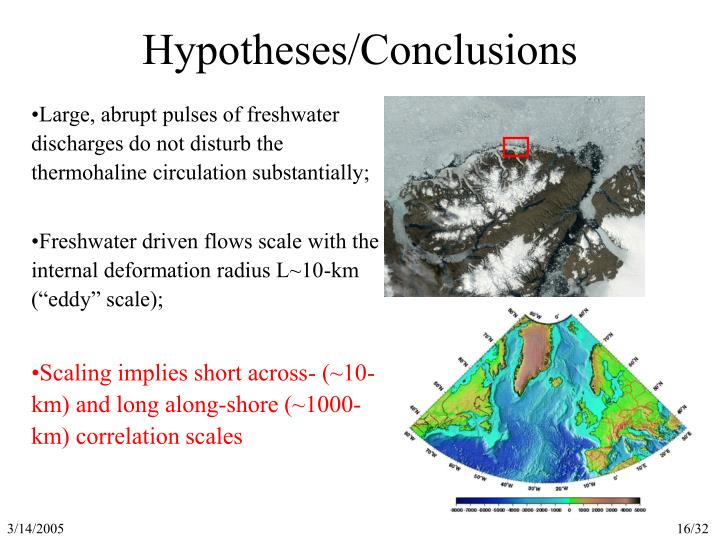 Hypotheses/Conclusions