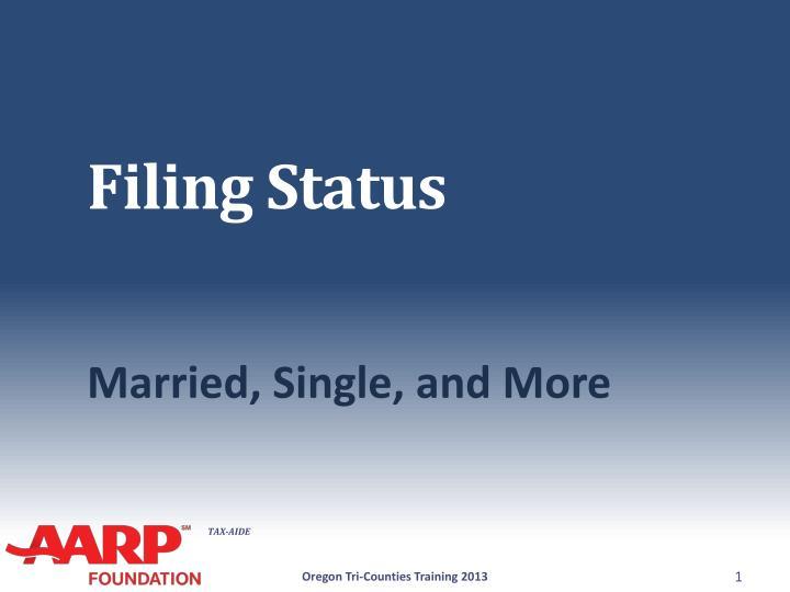 filing status n.