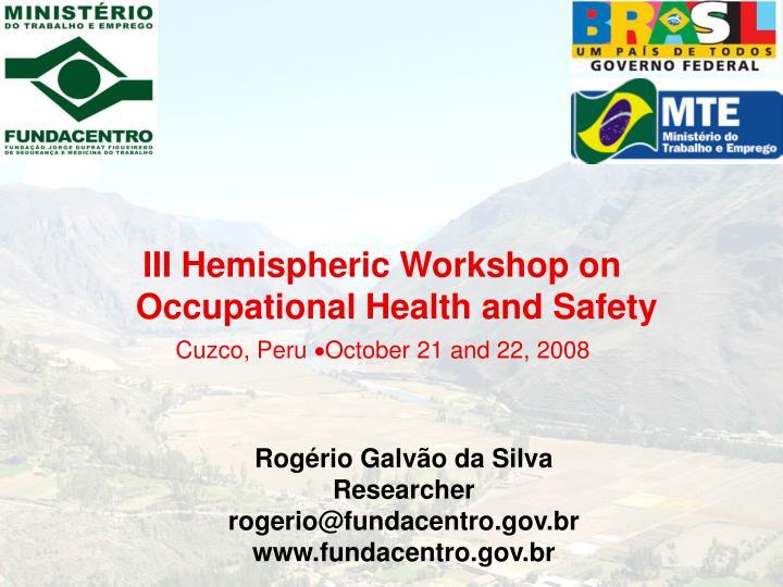 III Hemispheric Workshop on
