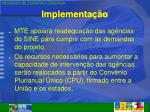 implementa o1
