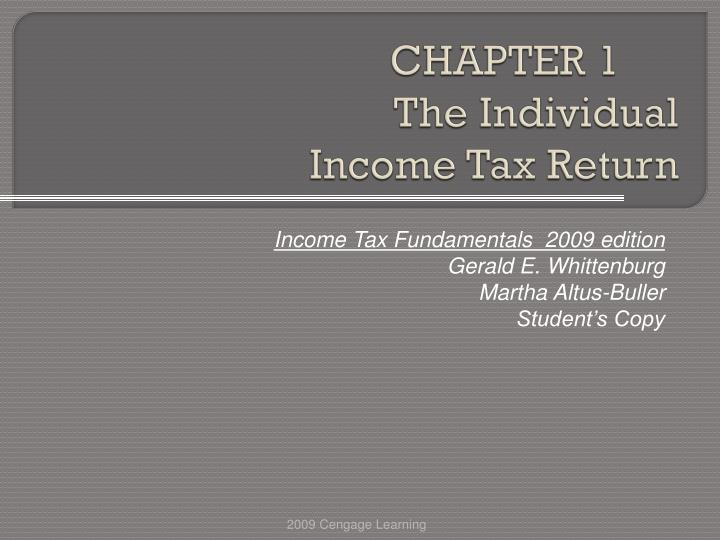 chapter 1 the individual income tax return n.