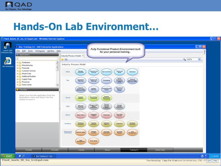 Hands-On Lab Environment…