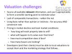 valuation challenges