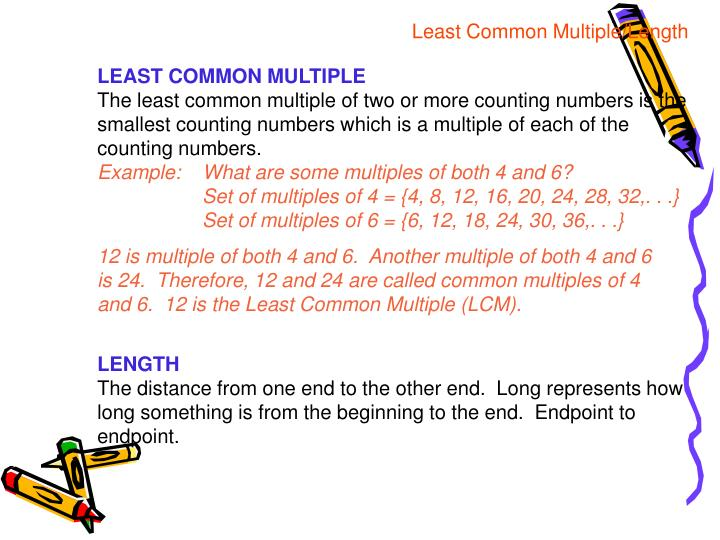 Least Common Multiple/Length