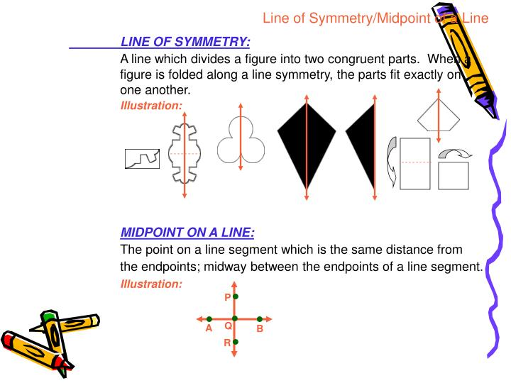 Line of Symmetry/Midpoint of a Line