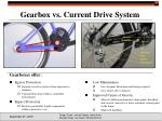 gearbox vs current drive system