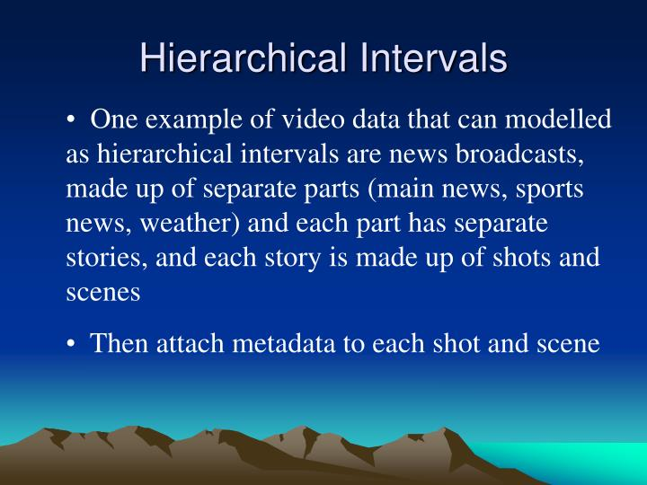 Hierarchical Intervals