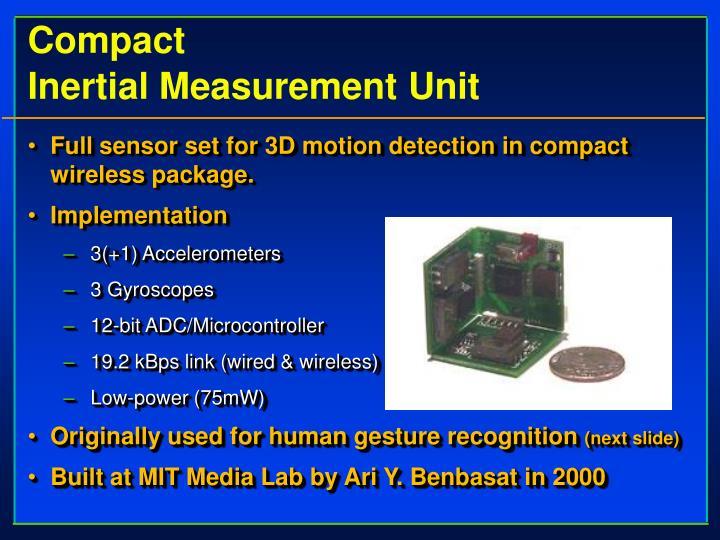 compact inertial measurement unit n.