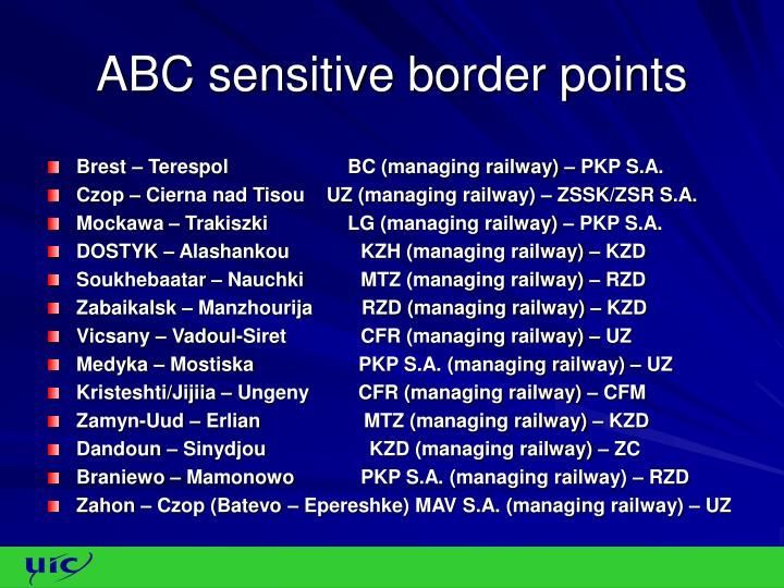ABC sensitive border points