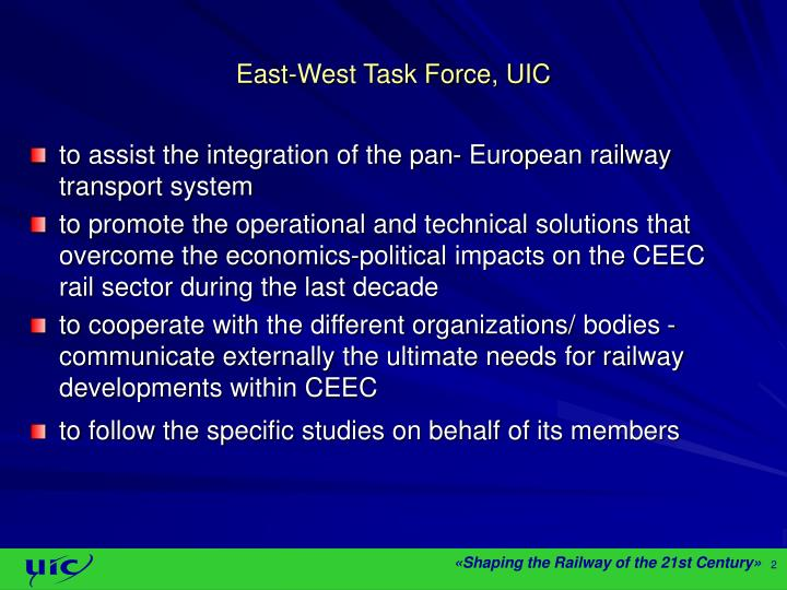 East west task force uic