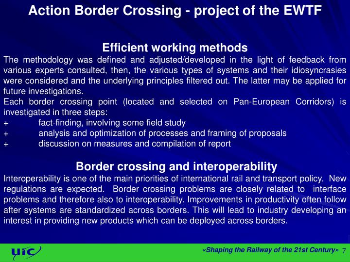 Action Border Crossing - project