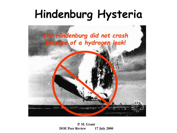 The Hindenburg did not crash