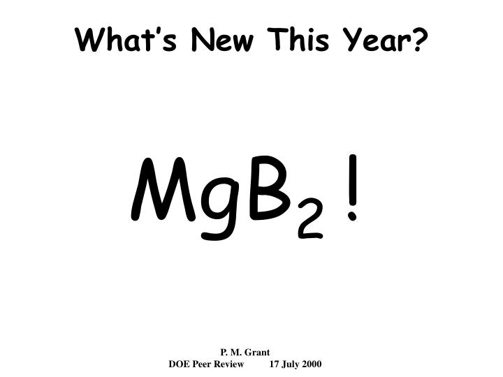 What s new this year