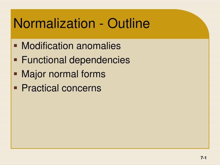 normalization outline n.