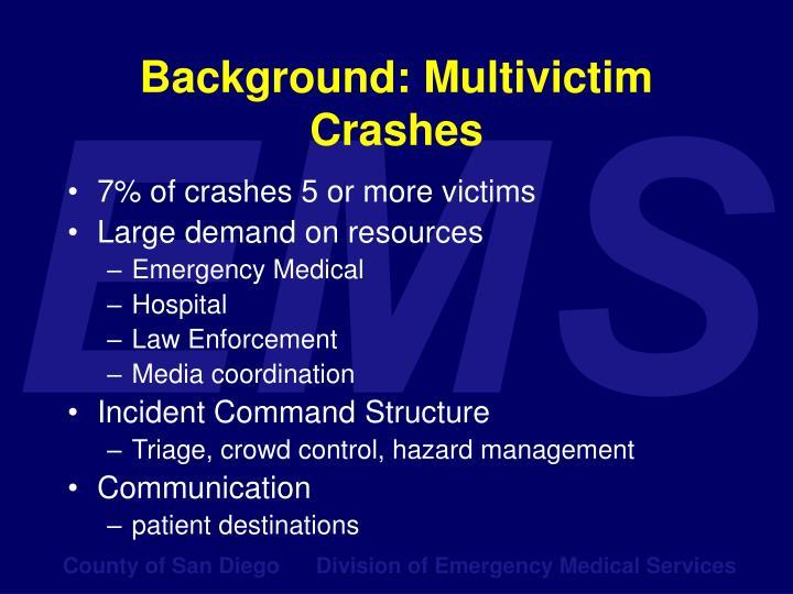Background multivictim crashes