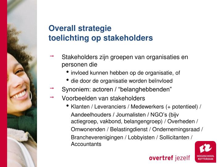 Overall strategie