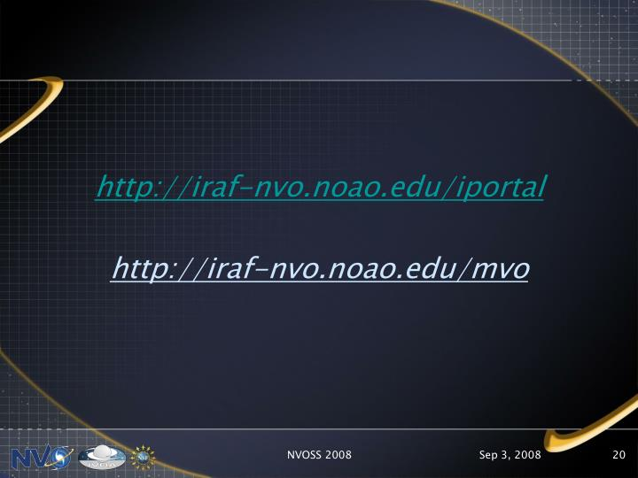http://iraf-nvo.noao.edu/iportal