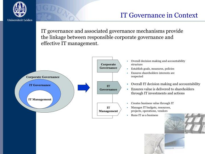 IT Governance in Context