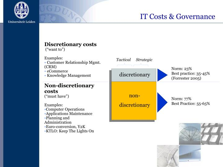 IT Costs & Governance
