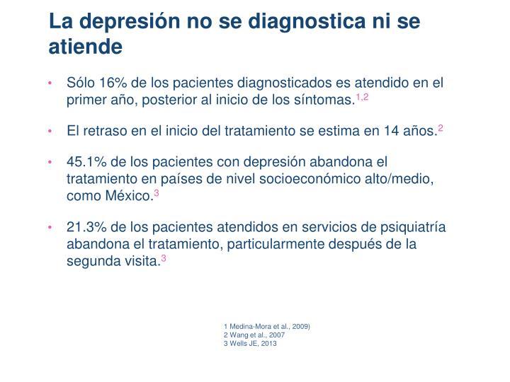 La depresión no se diagnostica ni se atiende