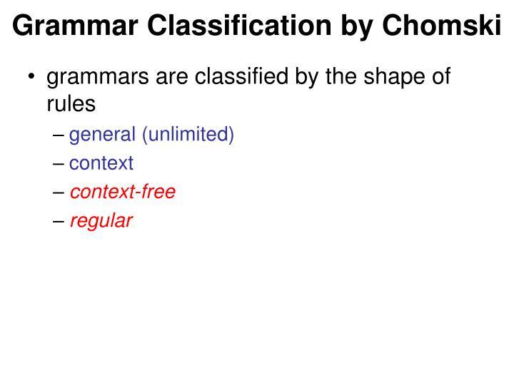 Grammar Classification by