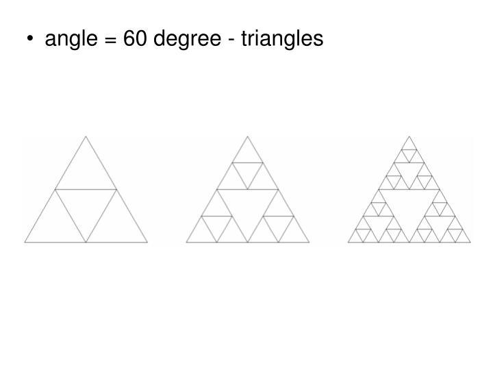 angle =
