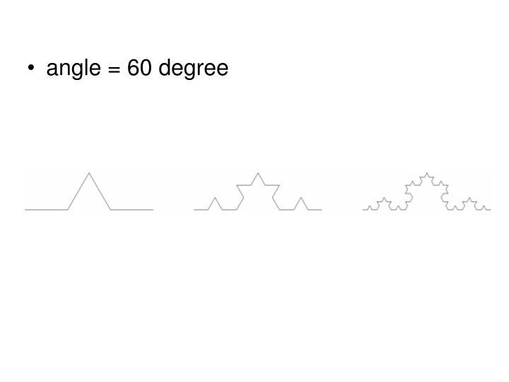 angle = 60 degree