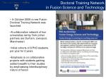 doctoral training network in fusion science and technology1
