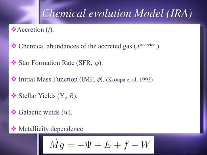 Chemical evolution Model (IRA)