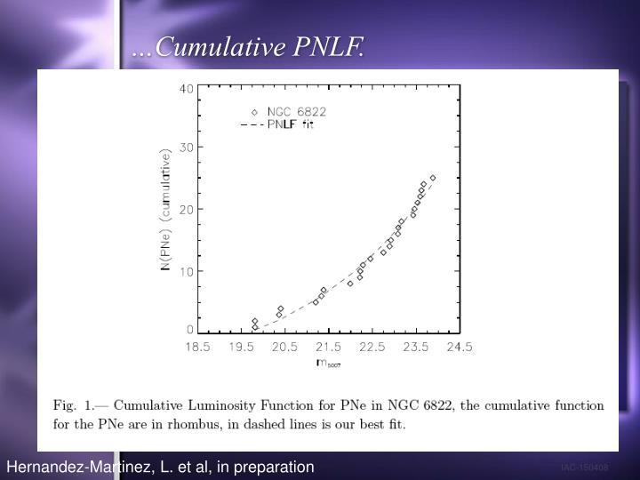 …Cumulative PNLF.