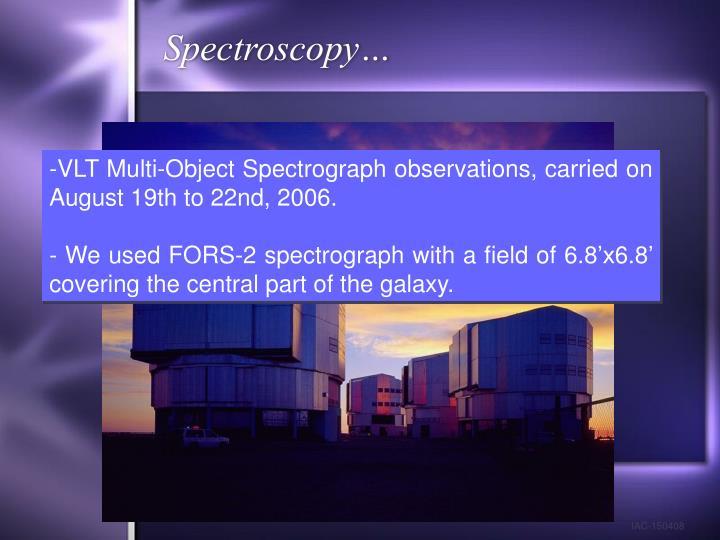 Spectroscopy…