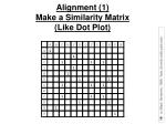 alignment 1 make a similarity matrix like dot plot
