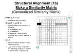 structural alignment 1b make a similarity matrix generalized similarity matrix