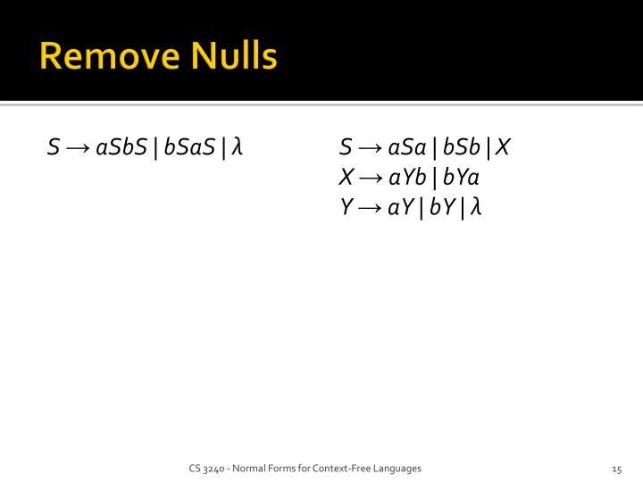 Remove Nulls