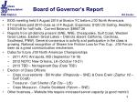 board of governor s report