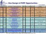 one design phrf opportunities1