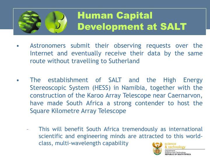 Human Capital Development at SALT