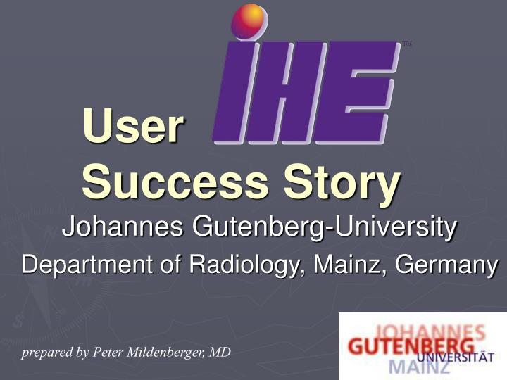 User success story