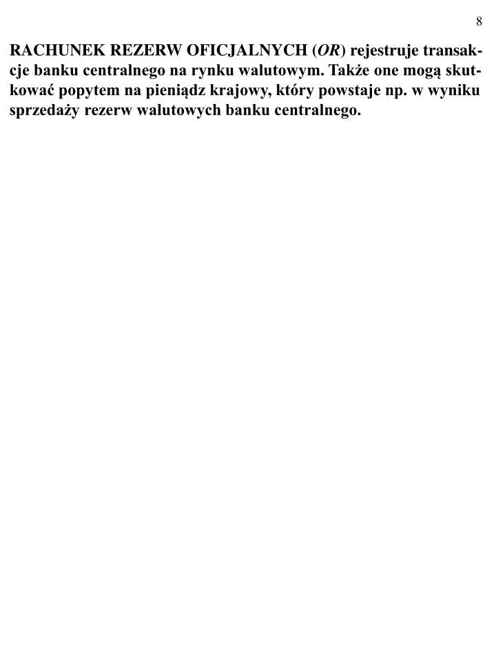 RACHUNEK REZERW OFICJALNYCH (