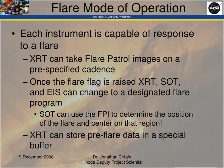 Flare Mode of Operation