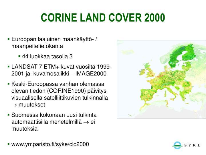 Corine land cover 2000