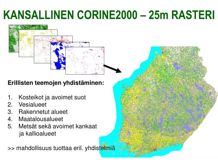 KANSALLINEN CORINE2000 – 25m RASTERI