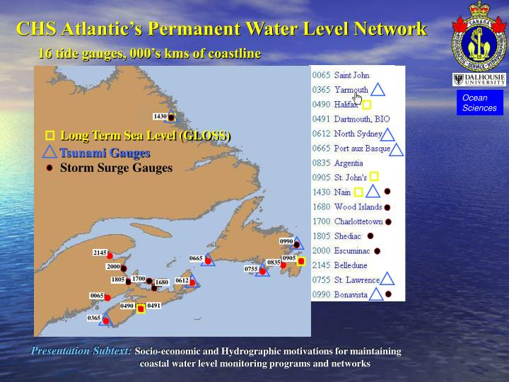 Chs atlantic s permanent water level network