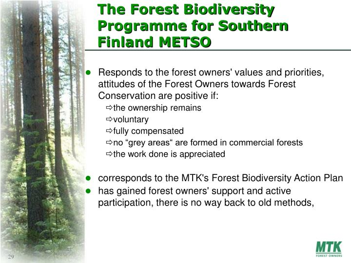 The Forest Biodiversity Programme for Southern Finland METSO