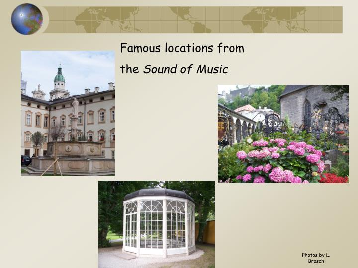 Famous locations from